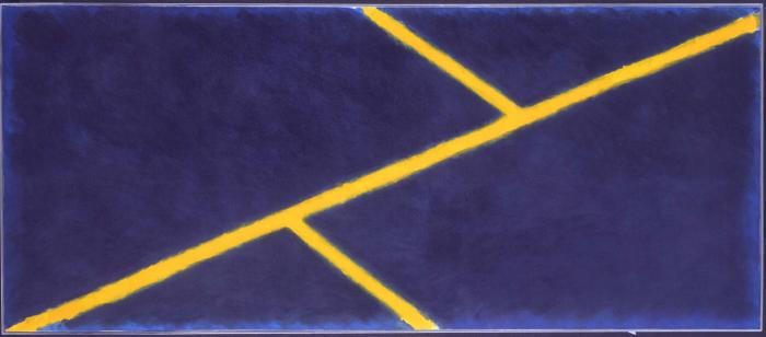 Yellow Grid and Blue (1969)